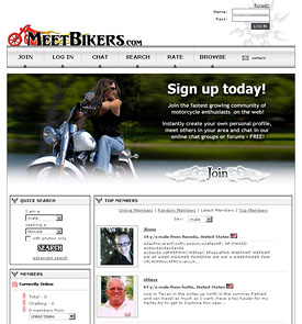MeetBikers.com Custom Website Designed by N.A.I. Multimedia Studios, Austin TX