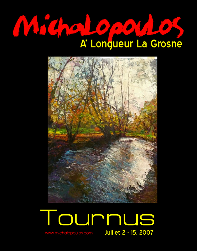 Michalopoulos France Gallery Tour Poster Designed by N.A.I. Multimedia Studios, Austin TX