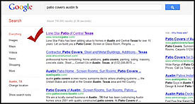 Lonestar Patio - #1 Google Search Result