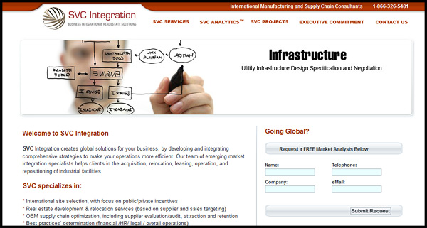 SVC Integration Website Design by N.A.I. Multimedia Studios Austin TX