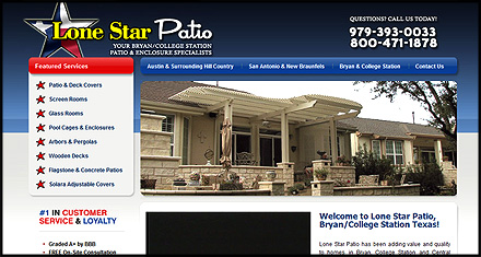 Lonestar Patio Custom Websites Designed by N.A.I. Multimedia Austin TX
