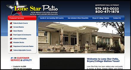 Lonestar Patio Custom Websites Designed by N.A.I. Multimedia Austin TX
