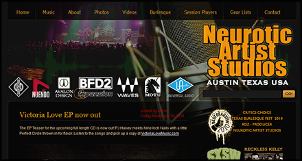 Neurotic Artist Studios Website Design by N.A.I. Multimedia Studios, Austin TX