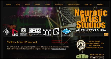 Neurotic Artist Studios Website Design by N.A.I. Multimedia Studios, Austin TX