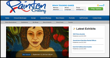Painton Gallery Website Designed by N.A.I. Multimedia Studios, Austin TX