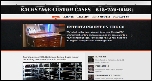 Backstage Custom Cases Nashville Tennessee