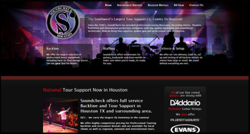 Soundcheck Houston SIte Design by N.A.I. Multimedia Studios Austin TX USA