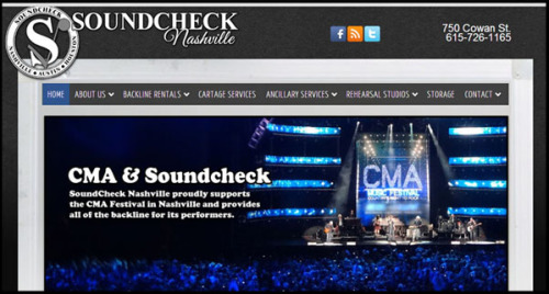Soundcheck Nashville site design by N.A.I. Multimedia Studios Austin TX USA